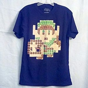 The Legend of Zelda Link 8 Bit Map T-Shirt.